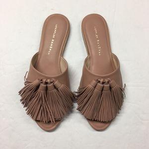 LOEFFLER RANDALL Kiki Tassel Slides Sandal Flats